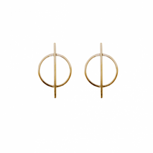 """Atmos"" Dual Mikro - Stud Earring - Gold"