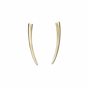 """""""Smilodon"""" Thorn - Stud Earring - Gold"""