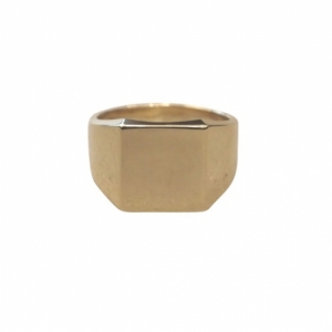 """Cleometra"" Fundamental Signet - Ring - Gold"