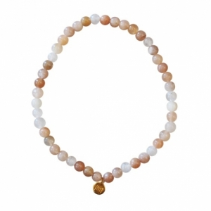"""""""Un-Deux-Trois"""" Moonstone Nude (4) - Bracelet"""