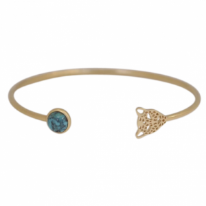 """Panthera"" Turquoise & Head - Bangle - Gold"