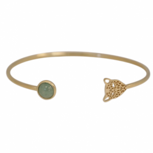 """Panthera"" Aventurin & Head - Bangle - Gold"