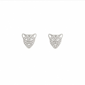 """Panthera"" Head Mini - Stud Earring - Silver"