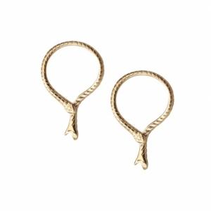 """""""Garden Eden"""" Snake Bite - Stud Earring - Gold"""