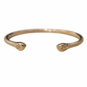"""Garden Eden"" Snake - Bangle - Gold"