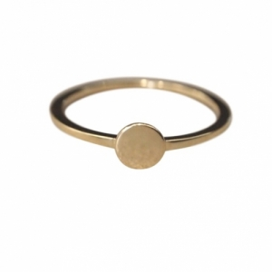 """Paillette"" Single M - Ring - Gold"