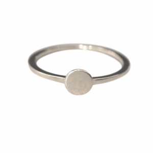 """Paillette"" Single M - Ring - Silver"
