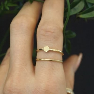 """Paillette"" Single S - Ring - Gold"
