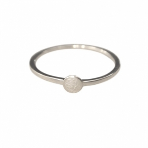 """Paillette"" Single S - Ring - Silver"