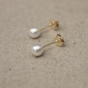 """""""Sophie"""" Akoya Pearl - Stud Earring - 14 Karat Gold"""
