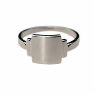 """""""Baguette"""" Artdéco Signet - Ring - Silver"""