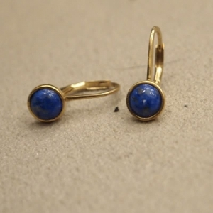 """Panthera"" Denim Lapislazuli - Brisur Earring - Gold"