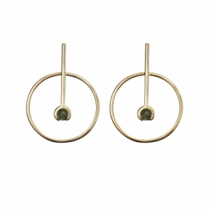 """Atmos"" Source Aventurin - Stud Earring - Gold"