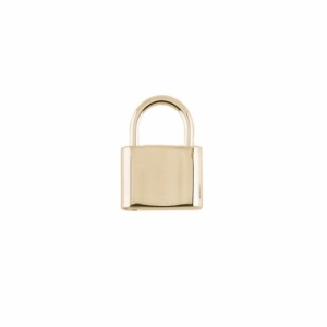 """Curb"" Lock Medium - Pendant - Gold"