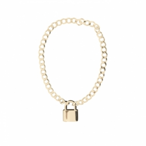"""Curb"" Lock Fellow - Bracelet - Gold"