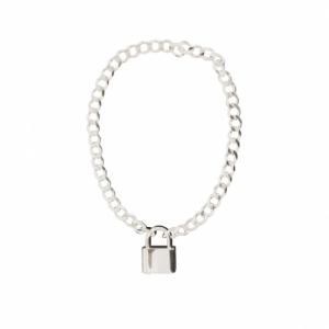 """Curb"" Lock Fellow - Bracelet - Silver"