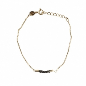 """Rocks"" Black Rough Diamond - Bracelet - Gold"