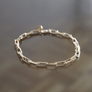 """Cleometra"" Rectangle Big - Bracelet - Gold"