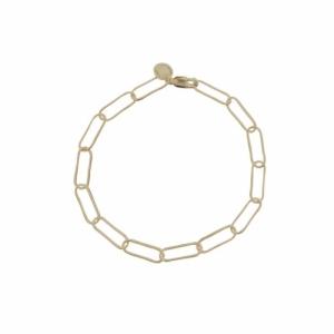 """Elongated"" Paperclip Light - Bracelet - Gold"