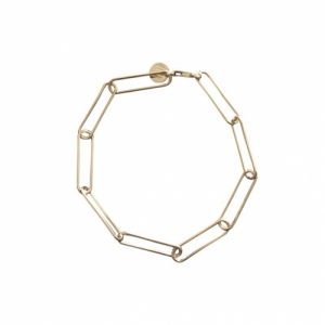 """Elongated"" Paperclip Heavy - Bracelet - Gold"