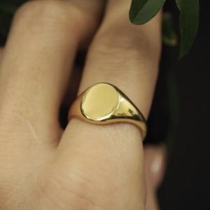 """Oneiro"" Signet - Ring - 18 Karat Gold"