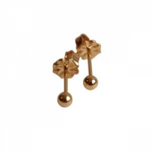 """""""Un-Deux-Trois"""" Dot - Stud Earring - Gold"""