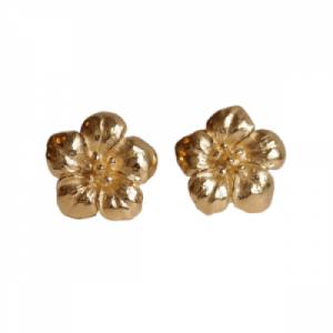 """""""Garden Eden"""" Flower - Stud Earring - Gold"""
