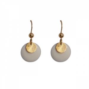 """""""Spot"""" White/Gold - Earring - Gold"""