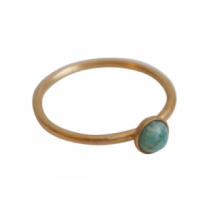 """Petit Point"" Amazonit - Ring - Gold"