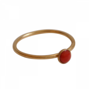 """Petit Point"" Coral - Ring - Gold"