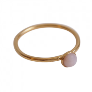 """Petit Point"" Pink Opal - Ring - Gold"