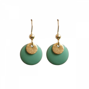 """Spot"" Mint/Gold - Earring - Gold"