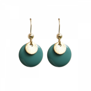 """""""Spot"""" Turquoise/Gold - Earring - Gold"""