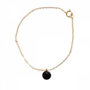 """""""Spot"""" Black - Bracelet - Gold"""