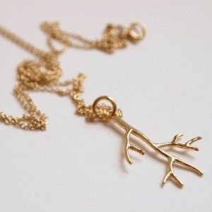 """Garden Eden"" Branch - Necklace - Gold"