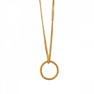 """Sophie"" One Circle - Necklace - Gold"