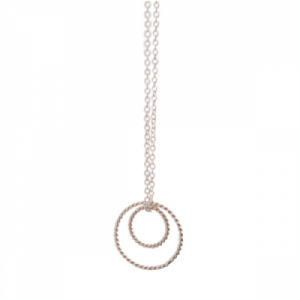 """Sophie"" Double Circle - Necklace - Silver"