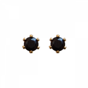 """Solitaire"" Spindel (S) - Stud Earring - Gold"