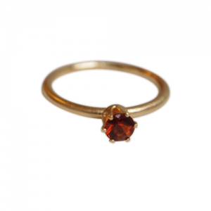 """Solitaire"" Fire Citrin (M) - Ring - Gold"