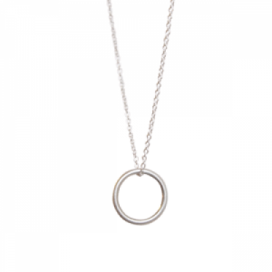 """Curvaceous"" Circle - Necklace - Silver"