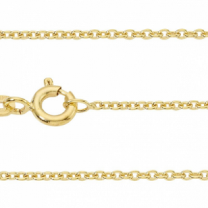 """Single Basic Chains"" Rundanker filigran - 50cm Necklace - Gold"