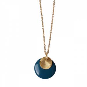 COSMIC SPOT | Petrol/Sunbeam Large - Necklace - Gold