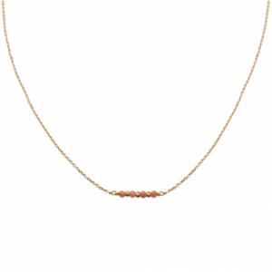 """""""Un-Deux-Trois"""" Peach Coral - Collier - Gold"""