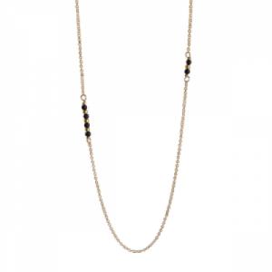 """""""Un-Deux-Trois"""" Onyx - Necklace - Gold"""