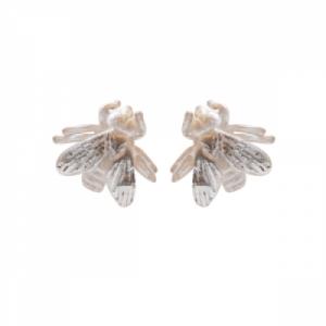 """""""Garden Eden"""" Fly - Stud Earring - Silver"""