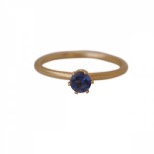 """Solitaire"" Iolite (M) - Ring - Gold"