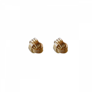 """Sophie"" forget me not knot - Stud Earring - Gold"