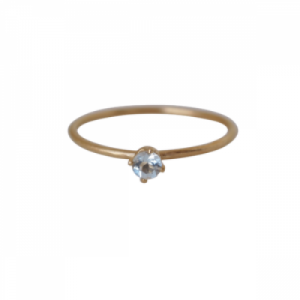 """Solitaire"" Aquamarin (S) - Ring - Gold"