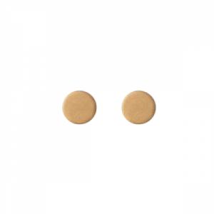 """Spot Classic"" Mat - Stud Earring - Gold"