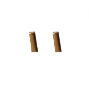"""""""Stripes & Joist"""" Bar S - Stud Earring - Gold"""